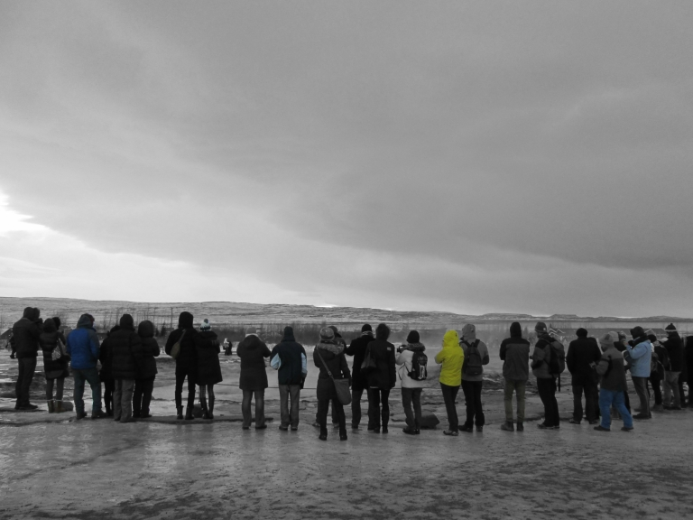 Iceland Geyser Crowd